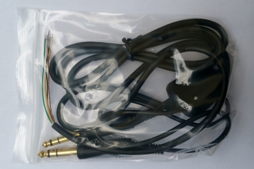General Aviation Headset Kabel longlife PJ-55 und PJ-68 14 K vergoldet made in Germany