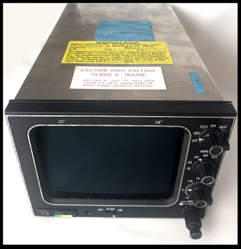 Narco Avionics Weather Radar System KWX-56 Color  Indicator UNIT PN: 066-3065-00